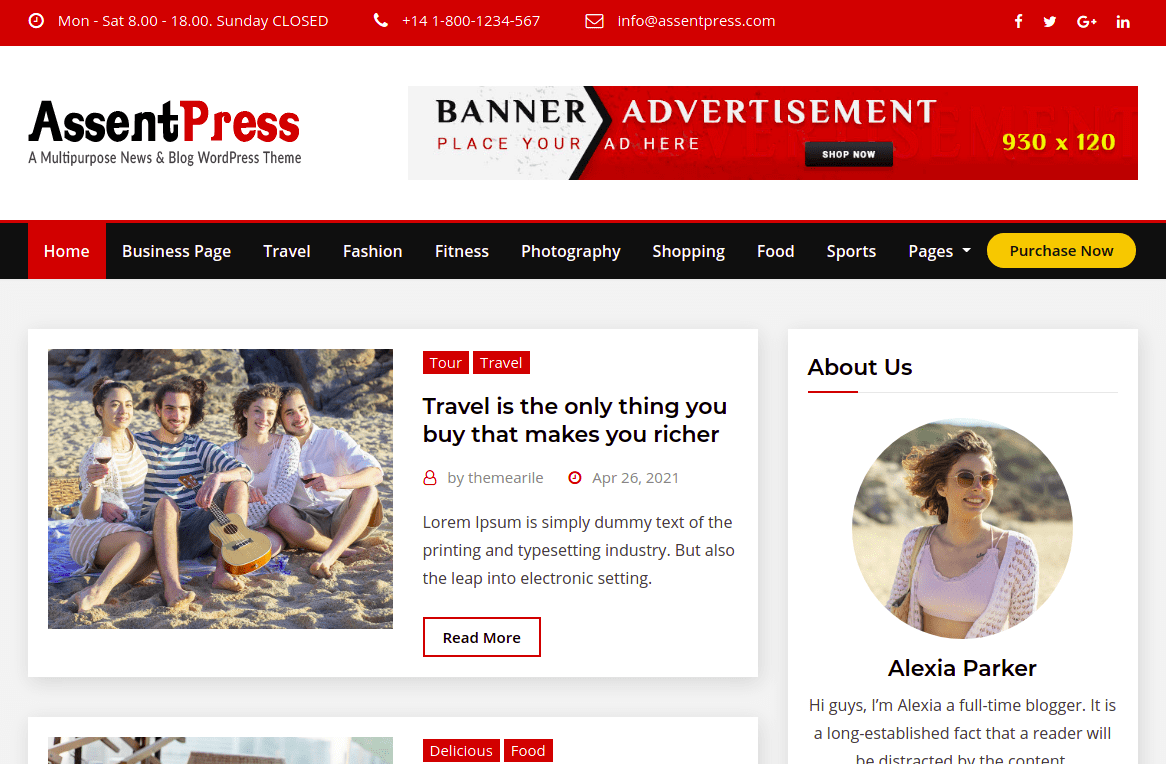 AssentPress WordPress theme