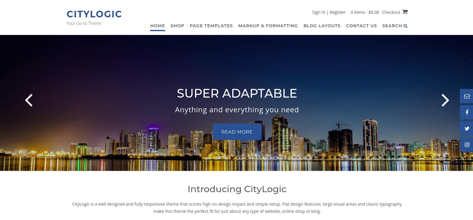 Download CityLogic WordPress Theme