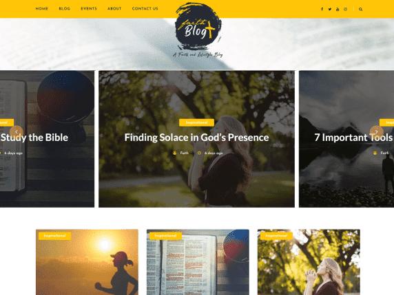 Faith Blog, WordPress Themes for Blogs