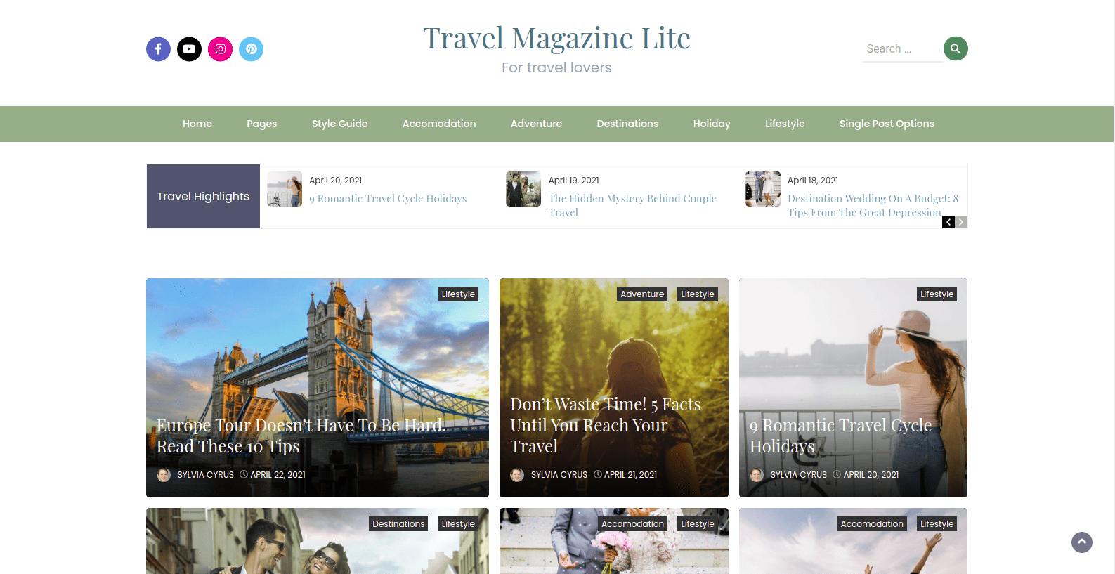 Travel Magazine Lite