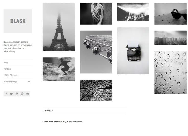blask, WordPress Theme for Photographers