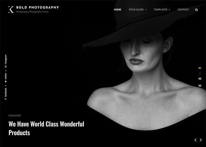 bold photography, WordPress Theme for Photographers