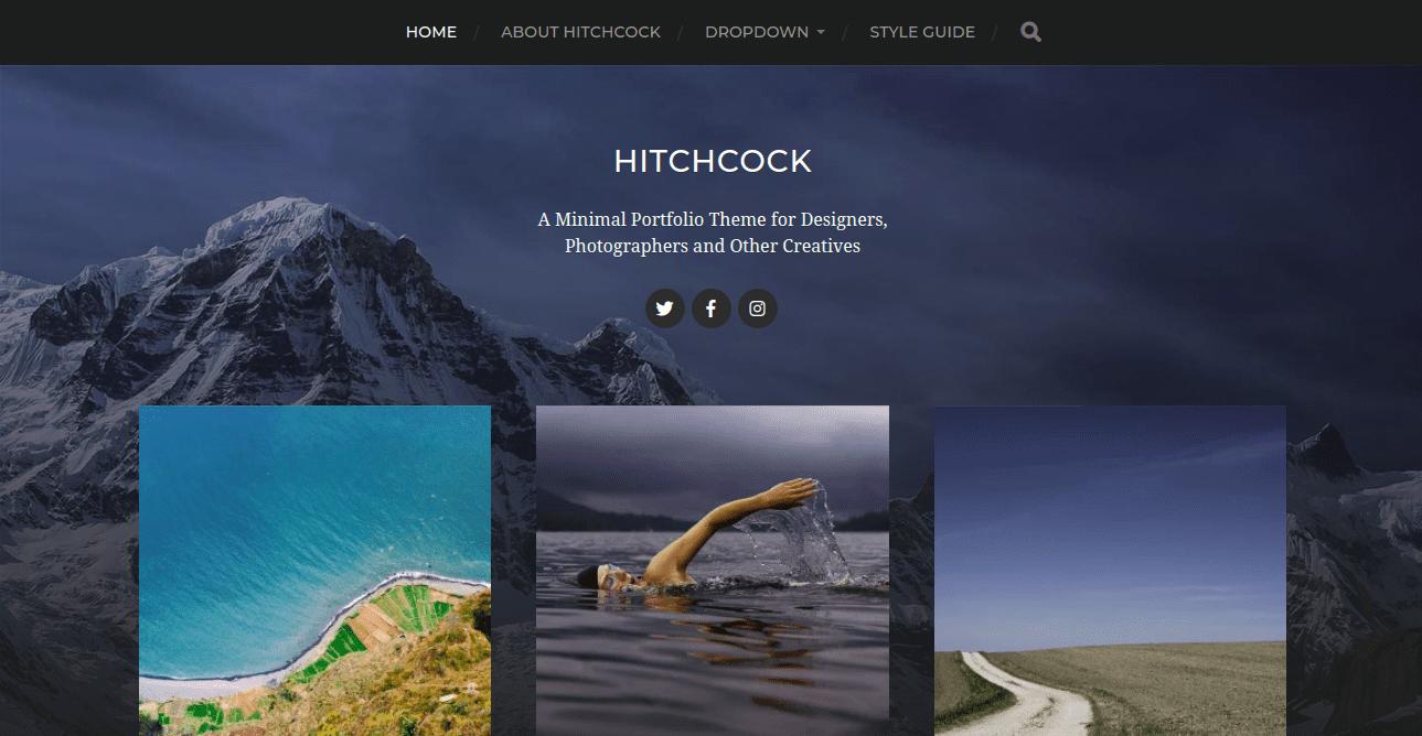 hitchcock, WordPress Theme for Photographers