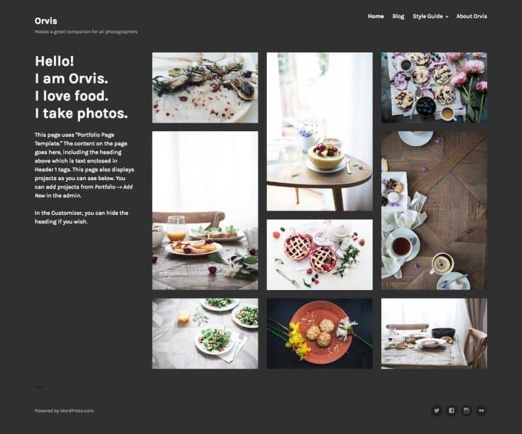 orvis, WordPress Theme for Photographers