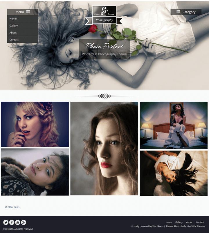 photo perfect, WordPress Theme for Photographers