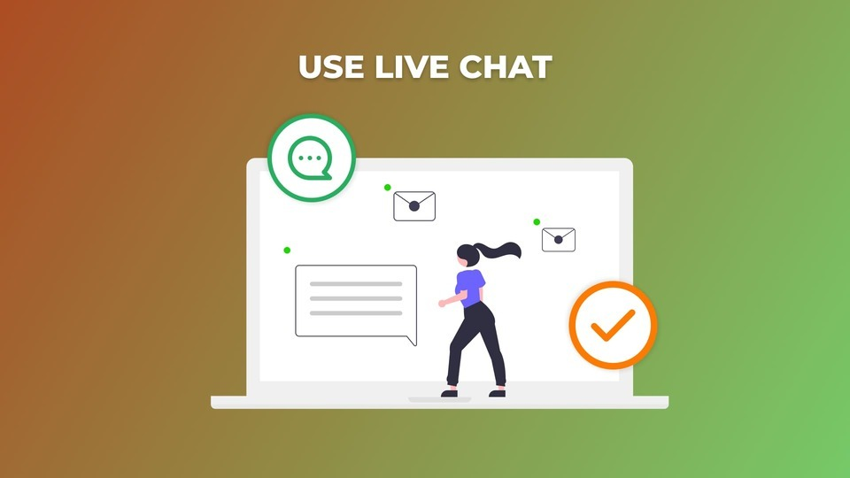 Use Live Chat, Optimize Checkout Page