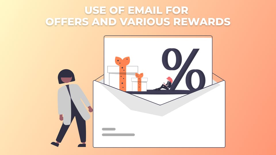 Use of Email for offers and various rewards