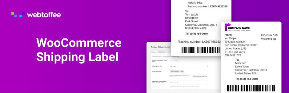 WooCommerce Shipping Label