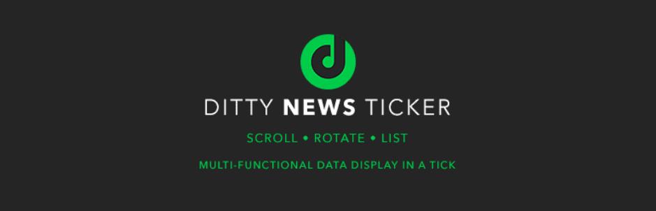 Ditty News Ticker - WordPress News Plugin