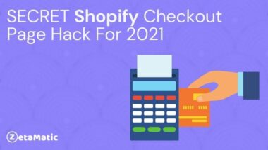 Shopify, Secret Shopify Checkout Page Hack For 2021