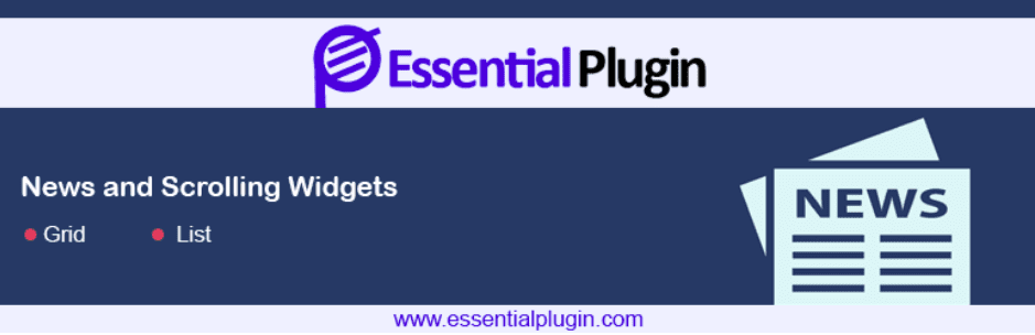 WP News and Scrolling Widgets -WordPress News Plugin